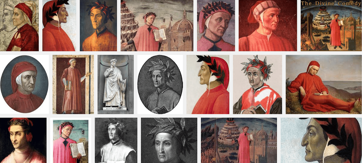 Collage of Portraits of Dante.
