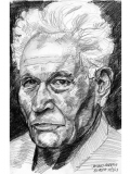 Sketch of Jacques Derrida.