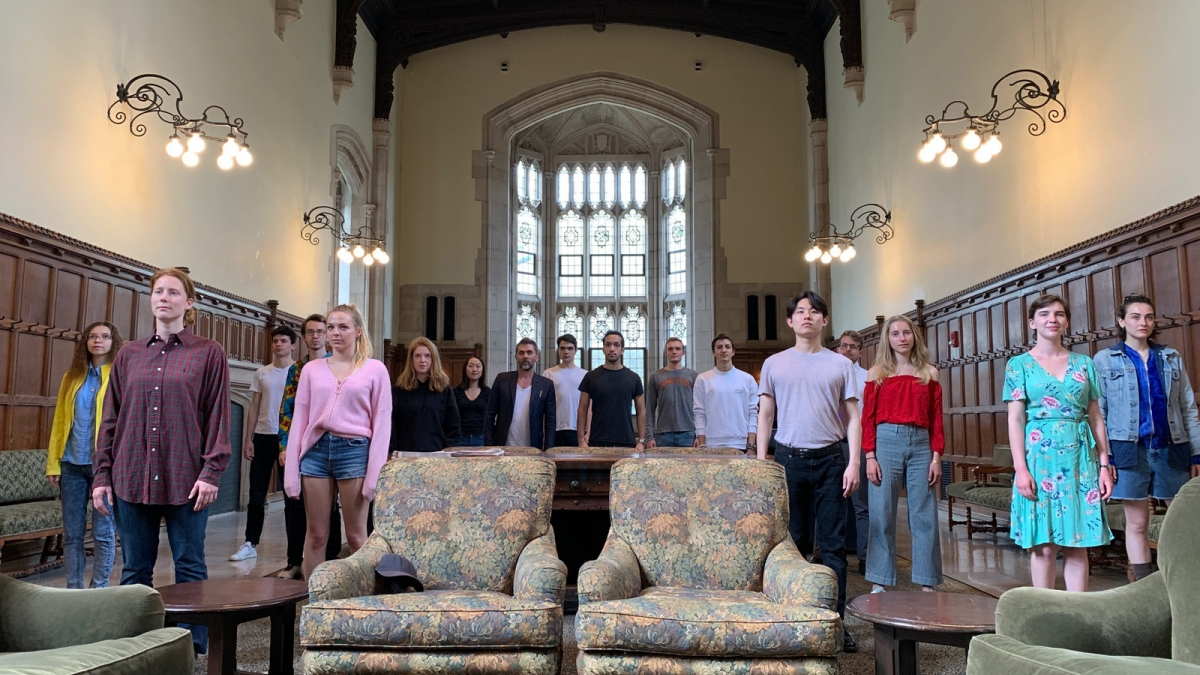 The students of FRE-THR-CWR 388 Writing, Directing and Acting Others, spring 2019