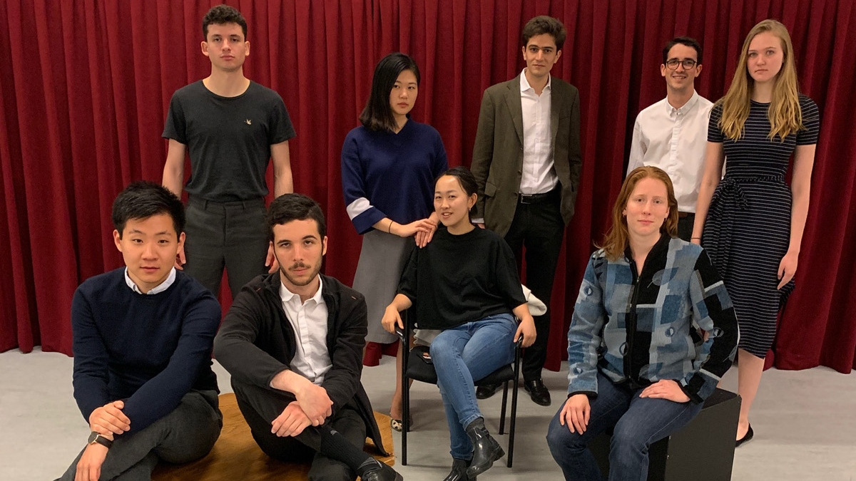L'Avant-Scène students in A Tribute for Pascal Rambert, April 2019