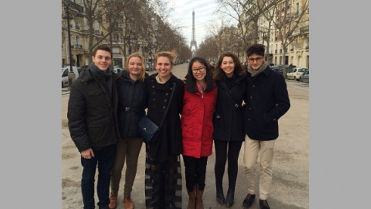 Several L'Avant-Scène students traveled to Paris in January 2015 with Director Florent Masse to attend classes at the Conservatoire National Supérieur D'Art Dramatique and to immerse themselves in French theater.