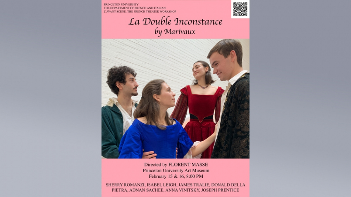 Poster for La Double Inconstance by Marivaux